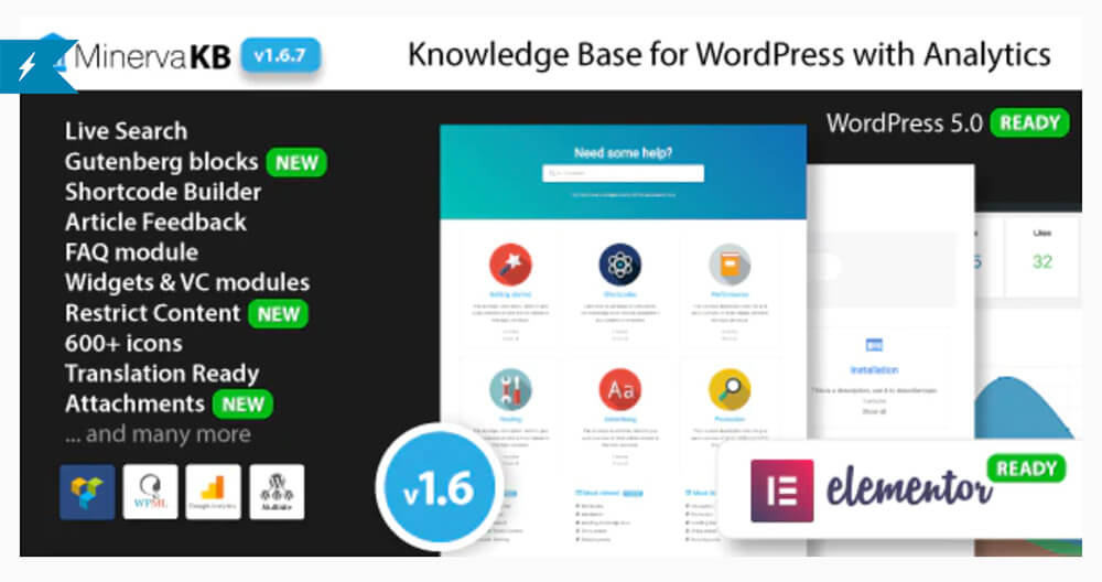 MinervaKB Knowledge Base for WordPress with Analytics