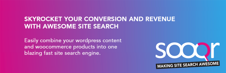 Sooqr - Make Your WordPress Search Awesome