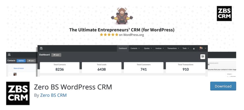 Zero BS WordPress CRM