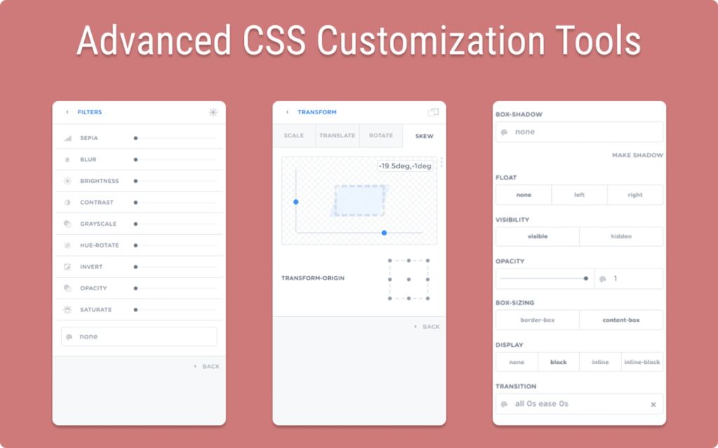 advanced css customization tools