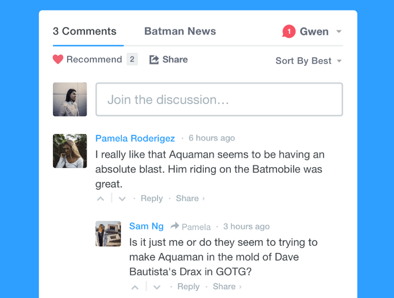 disqus comment example