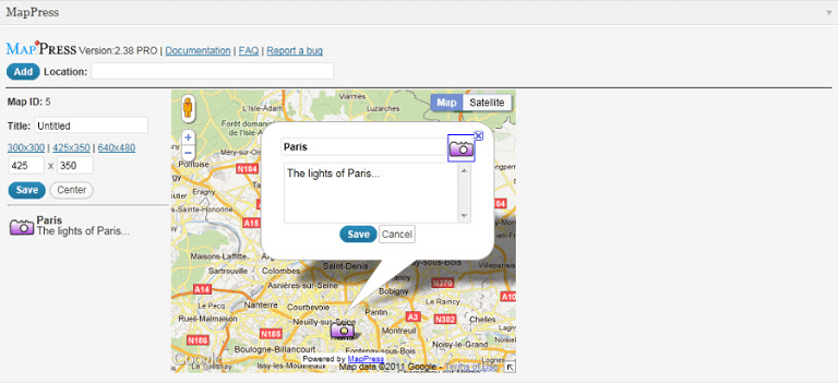 mapress maps for wordpress