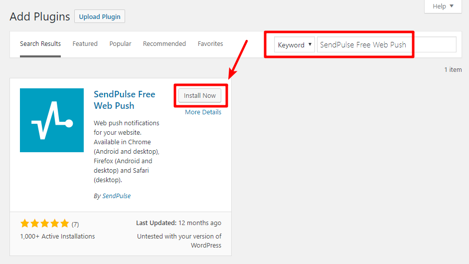 How To Add Web Push Notifications To WordPress With SendPulse 2