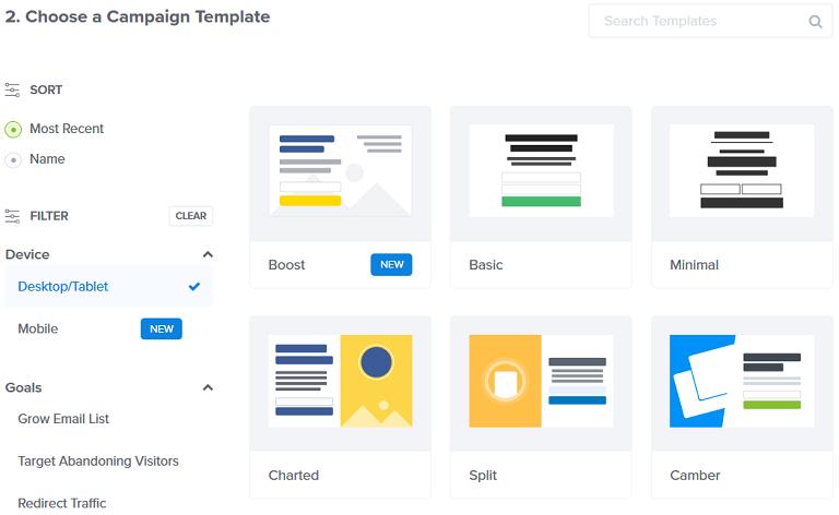 optinmonster templates