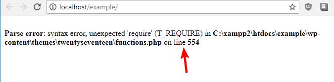 parse syntax error