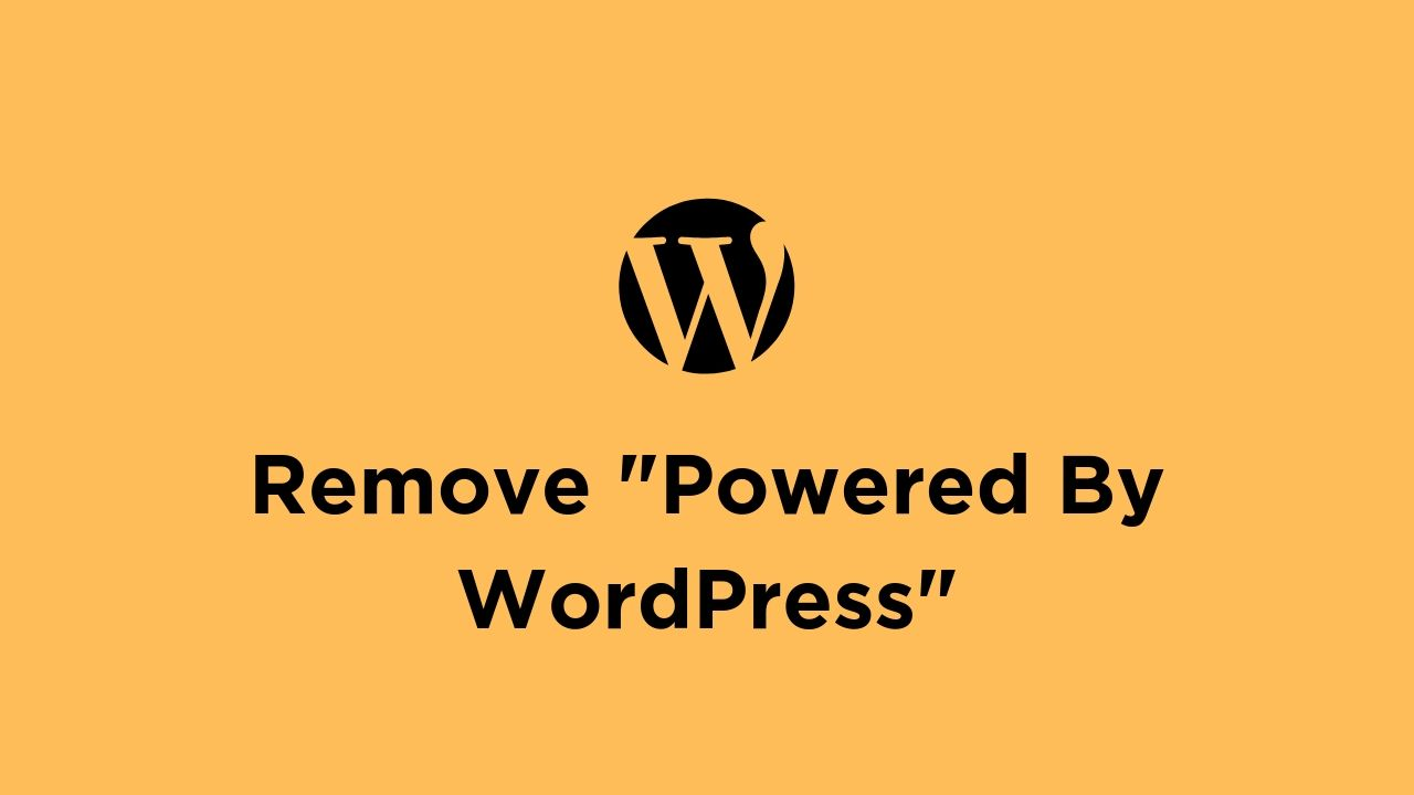 remove-powered-by-wordpress-text