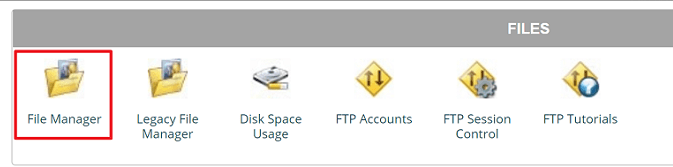 siteground file manager icon