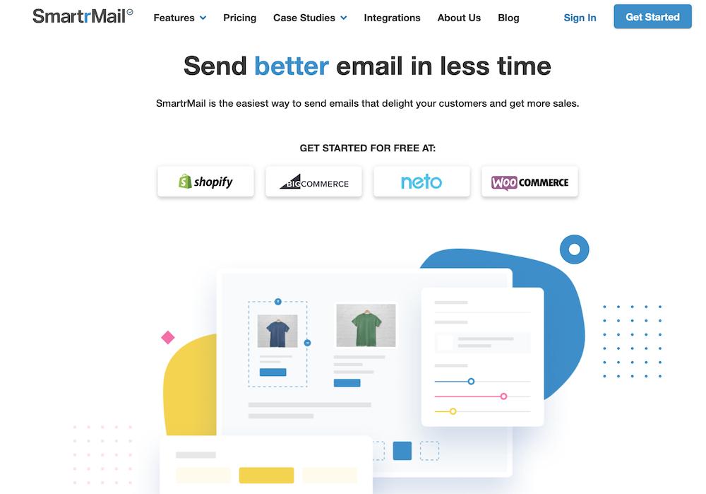 SmartrMail homepage screenshot