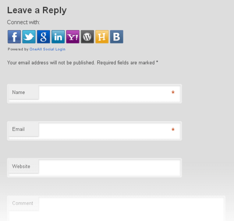 social login example