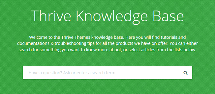 thrive knowledge base